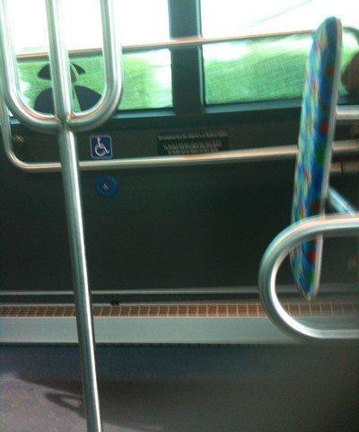 Emplacement du fauteuil dans le bus